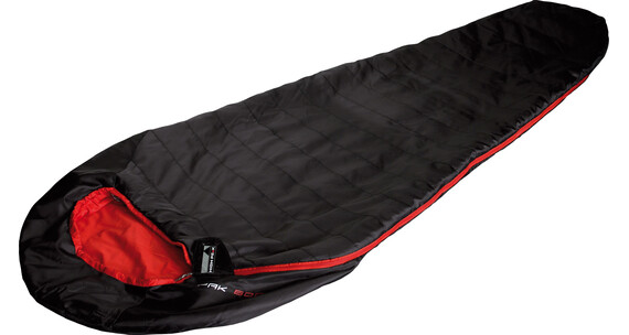 High Peak Pak 600 Sleeping Bag schwarz/rot